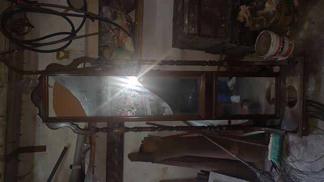 Espelho alto de quarto vintage para restaurar