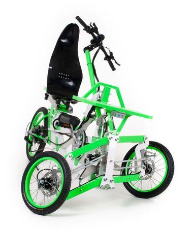 EV4 Semi-Recumbent komfortowy rower przechylany ze wspomaganiem elek