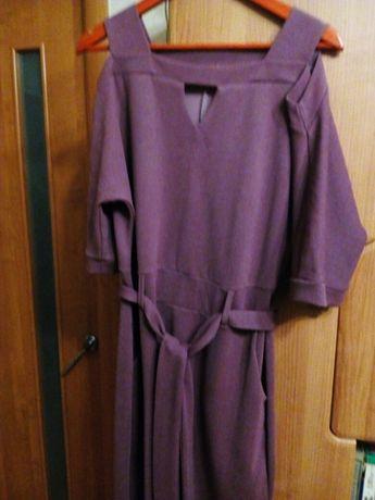 Нарядное платье, плотный струящийся трикотаж