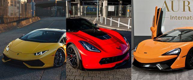 Wynajem Lamborghini McLaren Corvette Auto Samochód do Ślubu na Wesele