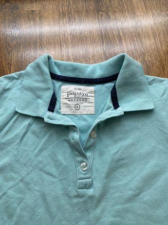 Błękitna koszulka polo, rozmiar M