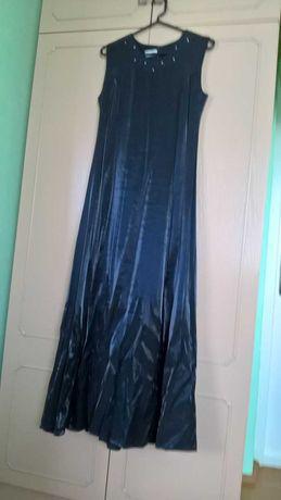 Suknia długa czarna weselna wieczorowa z bolerkiem 40 (XL) 49 zł
