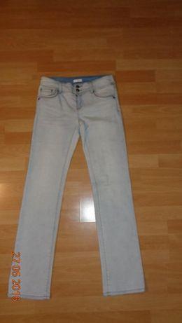 Jasne jeansy, długość 104 cm