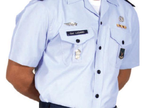 Camisa militar manga curta cinzenta Exercito Português
