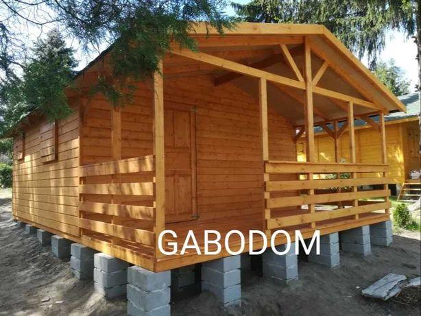 Domek drewniany letniskowy ogrodowy 35m2 altanka domek działkowy