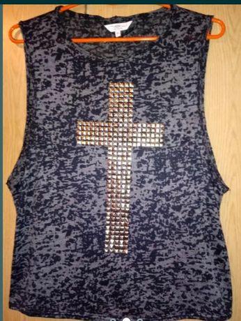 New look bluzka z krzyżem M