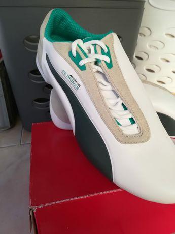 Puma Mercedes MAMGP Future Cat White & Green Sneakers