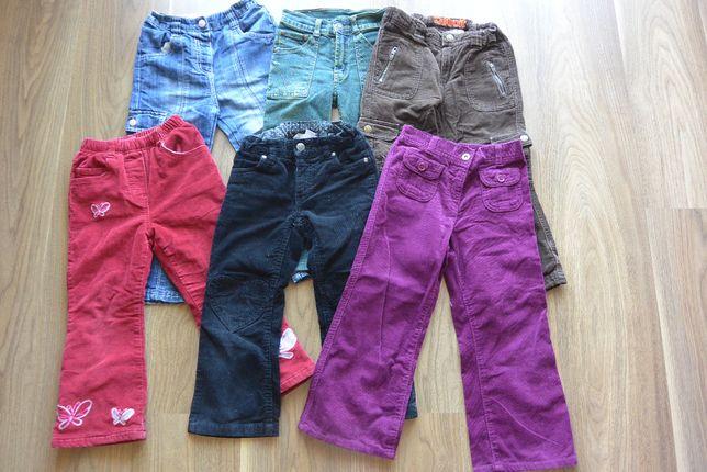 6 szt. - zestaw spodni r. 3-5 lat jesień-zima dla dziewczynki