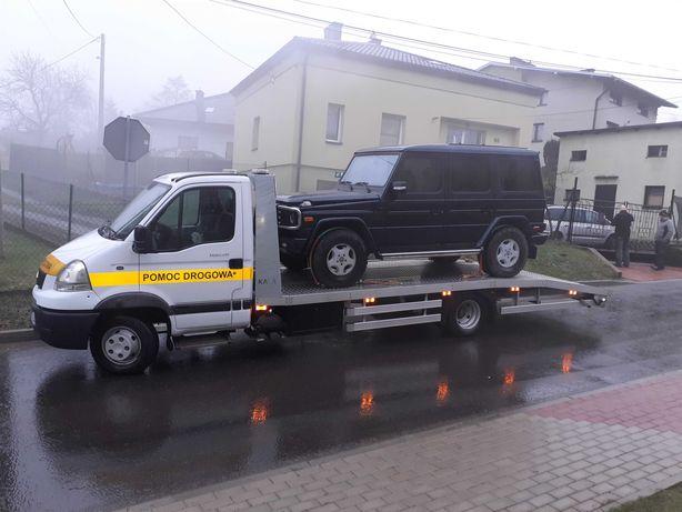Pomoc drogowa laweta holowanie Bielsko Żywiec Kozy Pszczyna Czechowice