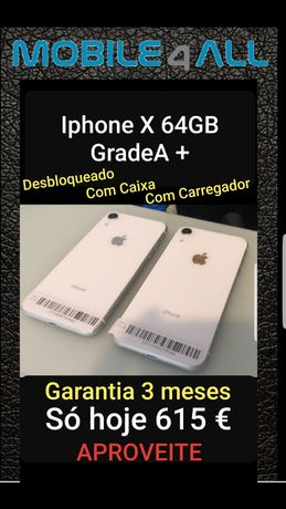 Iphone X 64GB Branco Grade A+