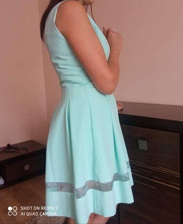 Sukienka rozmiar 38 kolor miętowy