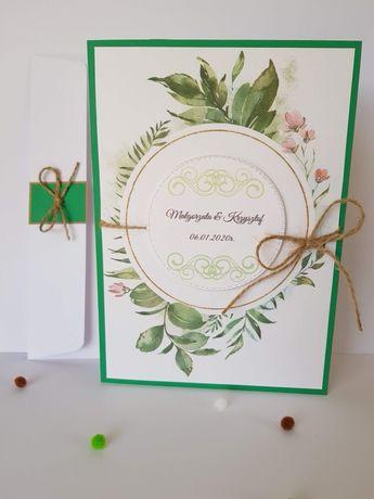 Kartka urodzinowa lub ślubna z okazji urodzin imienin