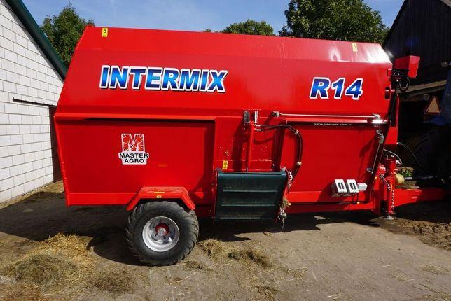 Poziomy paszowóz, wóz paszowy Intermix R14 Premium (14m3)