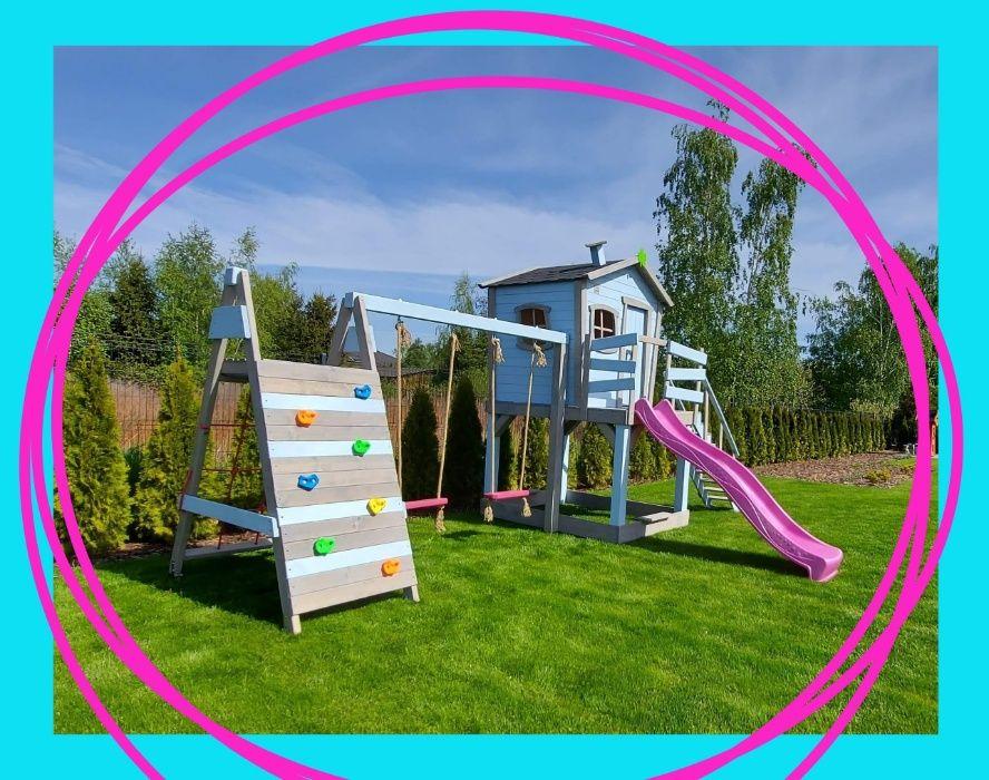Piękny domek dla dzieci plac zabaw Krzywy domek