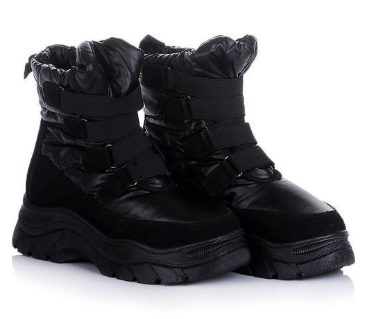Черные женские ботинки кроссовки зимние зима обувь! 36-41 ХИТ! НАЛОЖКА