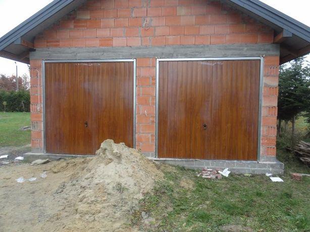BRAMA garażowa na wymiar Dwuskrzydłowa Uchylna Bramy garażowe Drzwi