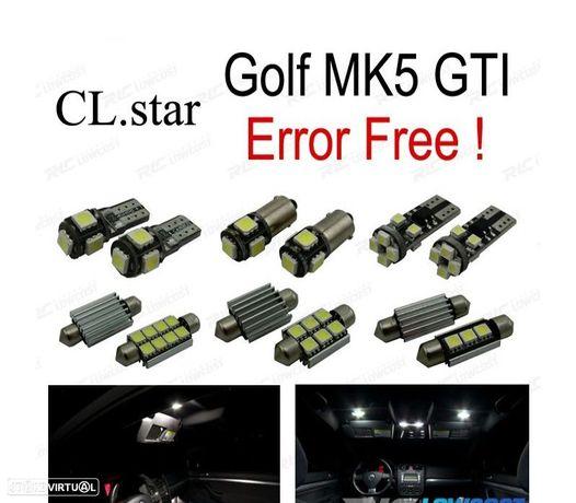 KIT COMPLETO DE 19 LÂMPADAS LED INTERIOR PARA VOLKSWAGEN RABBIT GTI VW GOLF 5 MK5 L (2006-2009)