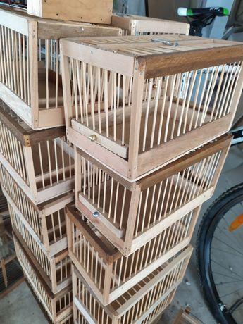 Клетка комбинации бамбук размер26х16х15 ручная работа