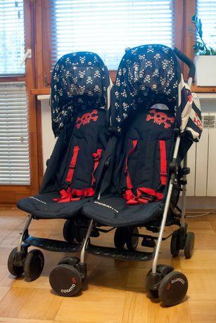 Wózek bliźniaczy Cosatto Supa Dupa, parasolka twin rok po roku