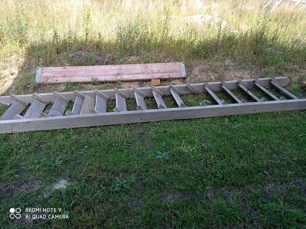 Schody budowlane drewniane