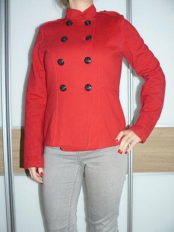 kurtka płaszczyk wiosenna czerwona rozm M