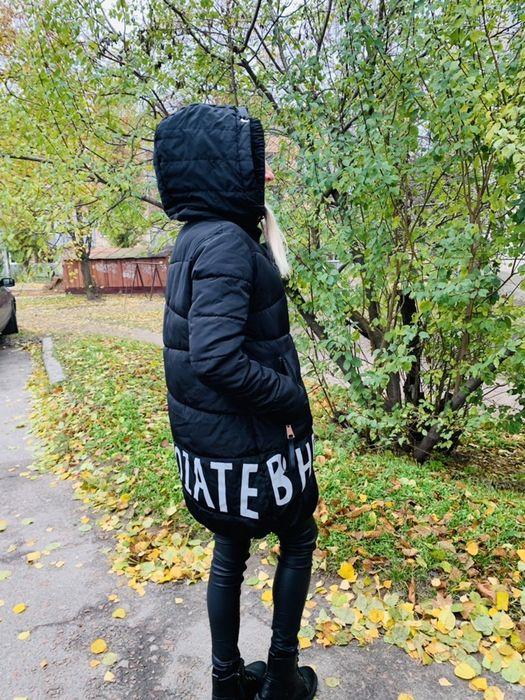 Новая зимняя брендовая пальто-куртка оверсайз, дутая, длинная, размерL Чернигов - изображение 1
