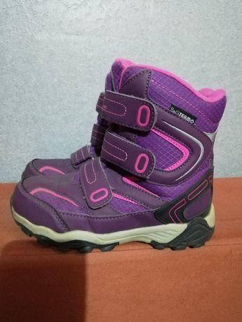Фирменные зимние термо ботинки для девочки