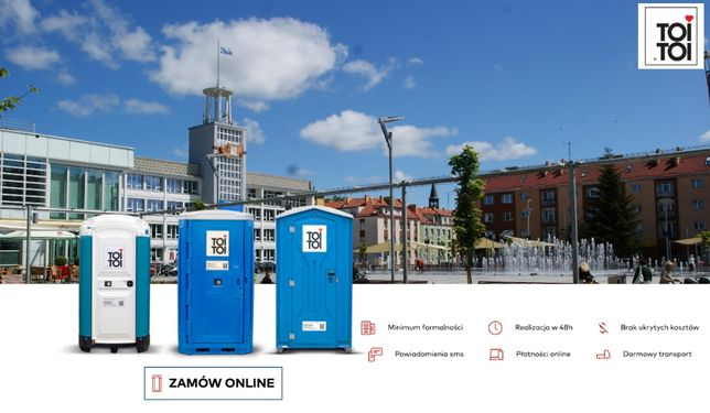 Toaleta przenośna TOI TOI wynajem toalety serwis toalet wc na budowę