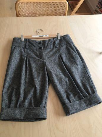 Spodnie krótkie eleganckie united colors of benetton szare r. M L