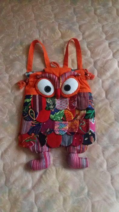 Яркий, мягкий рюкзачок Сова для девочки Днепр - изображение 1