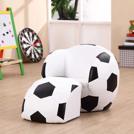 NOWA tapicerowana pufa dziecięca w kształcie piłki, sofa piłka