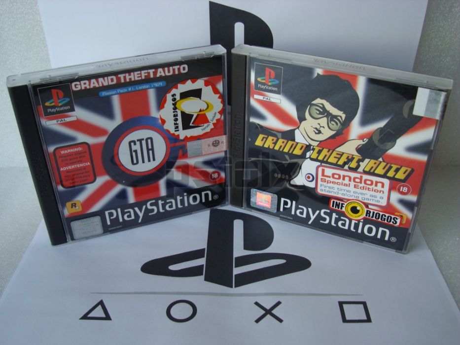 grand theft auto london playstation ps1 psx psone Parada de Cunhos - imagem 1