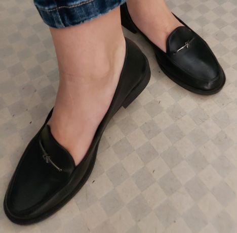 Туфли кожанные  Лоферы