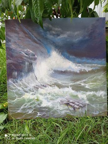 Картина маслом,живопис, по мотивам Айвазовского