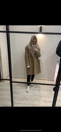 Пальто шерстяное H&M Premium