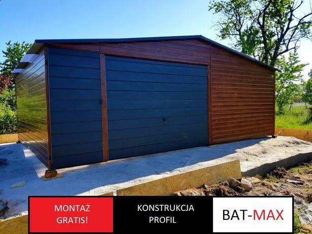 Producent garaży blaszanych  drewnopodobnych (profil,3x5,6x6,4x6)