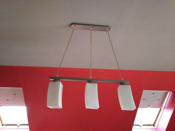 Lampa wisząca, trzy klosze