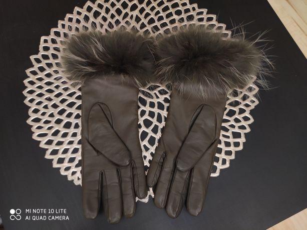 Rękawiczki Ochnik owcza skóra