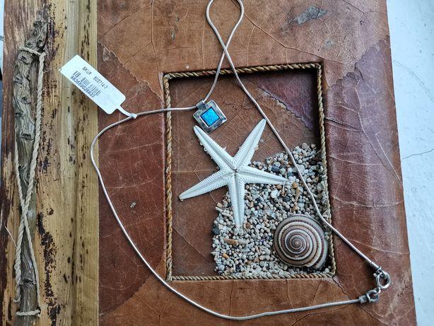 Серебряная подвеска на шею Shablool с опалом. Израиль, оригинал.