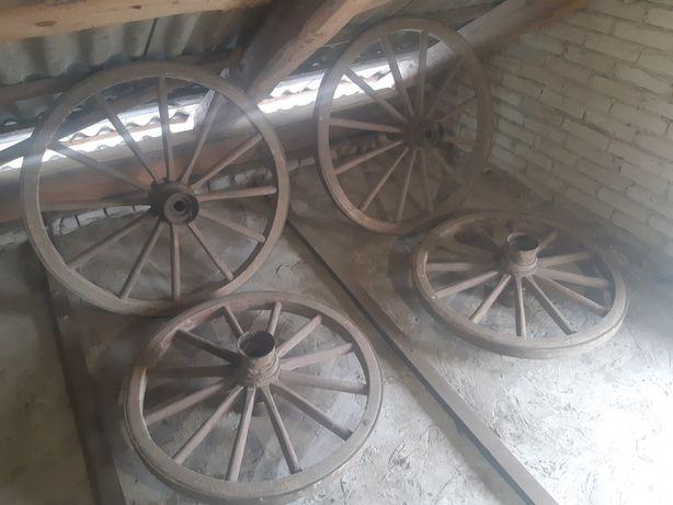 Koła drewniane, wóz konny