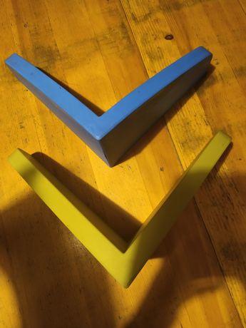 Półki Ikea niebieska i zielona