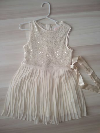 Plisowana sukienka z cekinami CA r. 110