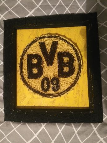 "Obraz String art ""Herb Borussia Dortmund"""