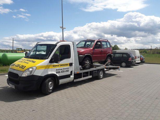 Pomoc drogowa 24H auto-laweta Holowanie Transport Naprawa na drodze
