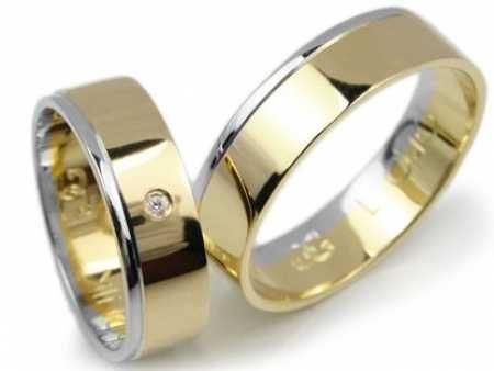 -25% ! Złote Obrączki pr. 585, 6mm, model Lux 040 / Chorzów