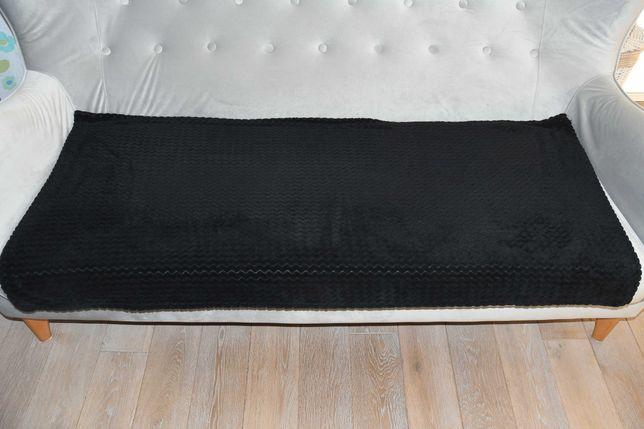 Narzuta/koc na sofę/fotel 65x145 czarny