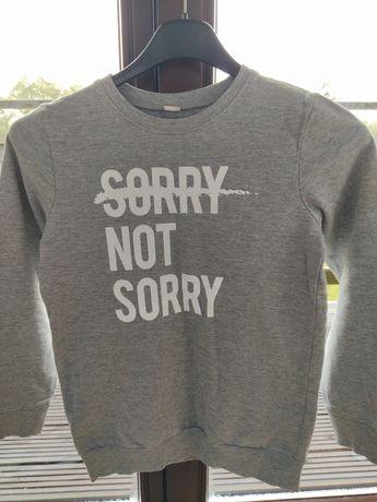 Bluza szara Sorry not Sorry 134/140