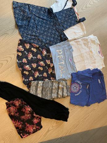 Ubranka dla dziewczynki 140+gratis rajstopy nowe