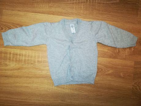 Sweter rozpinana chłopięcy szary 86cm