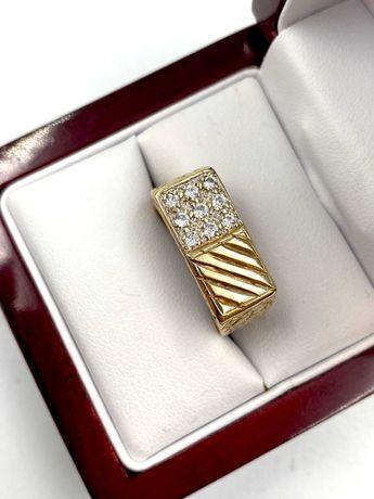 Złoty Pierścionek Pr: 375 Waga: 7,80 G R.17 PLUS LOMBARD